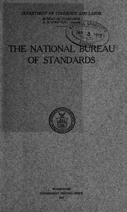 Cover of: national Bureau of standards. | United States. Bureau of Standards.