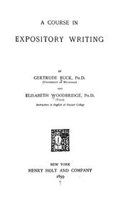 Cover of: A course in expository writing