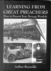 Cover of: Learning from Great Preachers by Arthur Reynolds