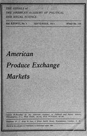 Cover of: American produce exchange markets ..