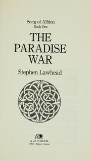 Cover of: The paradise war