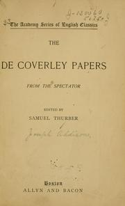 Cover of: The De Coverley papers