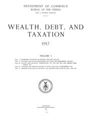 Wealth, debt, and taxation by United States. Bureau of the Census