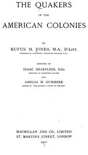 Cover of: The Quakers in the American colonies | Jones, Rufus Matthew