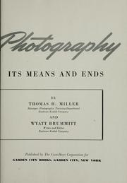 Cover of: This is photography | Thomas H. Miller