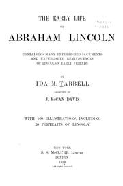 Cover of: The early life of Abraham Lincoln