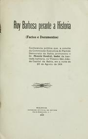 Cover of: Ruy Barbosa perante a historia