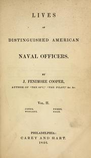 Cover of: Lives of distinguished American naval officers | James Fenimore Cooper