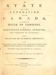 Cover of: A state of the expedition from Canada by John Burgoyne