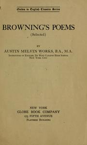Cover of: Browning's poems (selected)