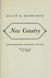 Cover of: New country