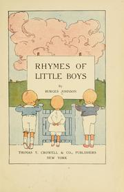 Cover of: Rhymes of little boys