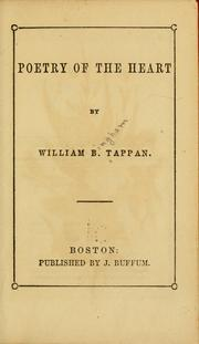 Cover of: Poetry of the heart | Tappan, William B.