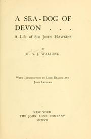 Cover of: A sea-dog of Devon | R. A. J. Walling