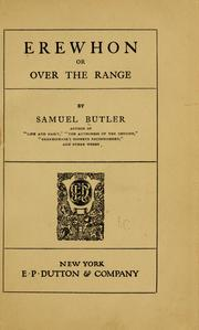 Cover of: Erewhon | Samuel Butler
