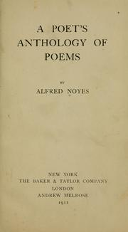 Cover of: A poet's anthology of poems