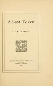Cover of: last token | Everhard John NyМ€enhouse