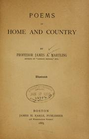 Cover of: Poems of home and country