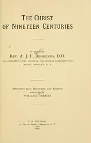 Cover of: The Christ of nineteen centuries