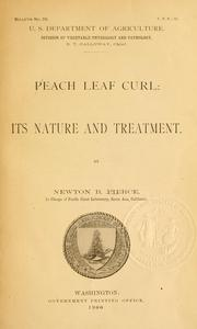 Cover of: Peach leaf curl: its nature and treatment