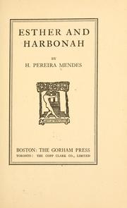 Cover of: Esther and Harbonah