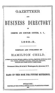 Cover of: Gazetteer and business directory of Chemung and Schuyler counties, N.Y