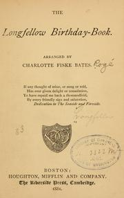 Cover of: Longfellow birthday book