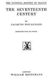 Cover of: The seventeenth century