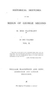 Cover of: Historical sketches of the reign of George Second