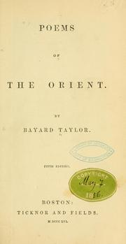Cover of: Poems of the Orient