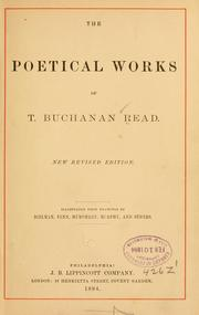Cover of: The poetical works of T.B. Read