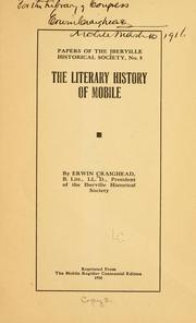 Cover of: The literary history of Mobile | Erwin Craighead
