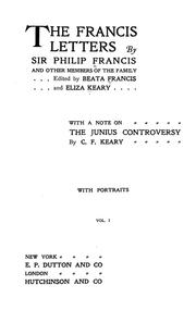 Cover of: The Francis letters | Francis, Philip Sir