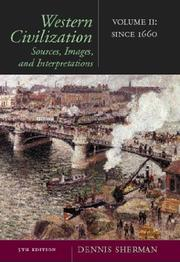 Cover of: Western Civilization: Sources, Images, and Interpretations, Volume 2