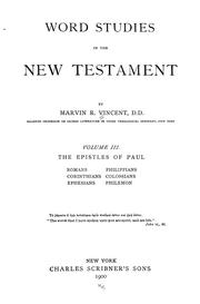 Word studies in the New Testament.