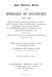 Cover of: The domesday of inclosures, 1517-1518 | Great Britain. Commissioners of Inclosures, 1517-1518.