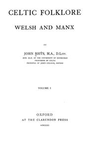 Cover of: Celtic folklore: Welsh and Manx