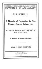 Cover of: A narrative of explorations in New Mexico, Arizona, Indiana, etc