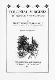 Cover of: Colonial Virginia | Stanard, Mary Mann Page Newton Mrs.