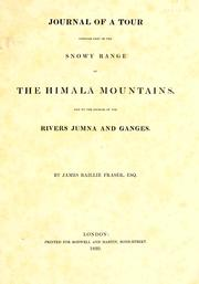 Cover of: Journal of a tour through part of the snowy range of the Himālā Mountains