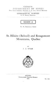 Cover of: St. Hilaire (Beloeil) and Rougement mountains