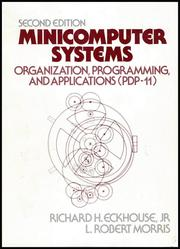 Cover of: Minicomputer Systems | Richard H. Eckhouse