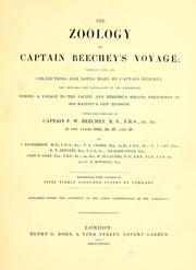 Cover of: The zoology of Captain Beechey's voyage