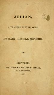 Cover of: Julian, a tragedy in five acts