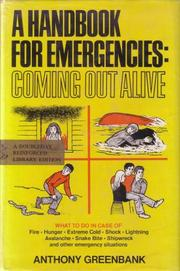 Cover of: A Handbook for Emergencies