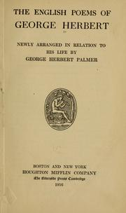Poems by George Herbert