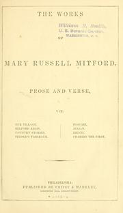 Cover of: The works of Mary Russell Mitford