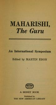 Cover of: Maharishi, the Guru