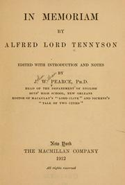 an analysis of in memoriam by lord alfred tennyson Online literary criticism for alfred, lord tennyson main page lord alfred tennyson and spirit in tennyson's in memoriam and lyell's principles of geology.