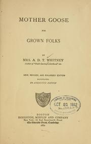 Mother Goose for grown folks by A. D. T. Whitney